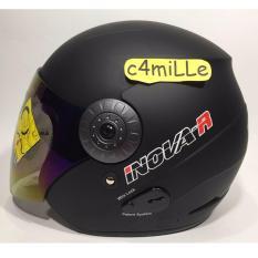 Jual Helm Bmc Inova Solid R Black Doff Half Face Branded