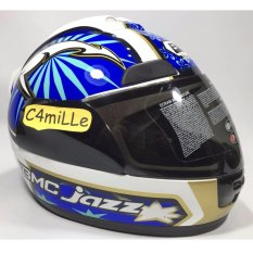 Spesifikasi Helm Bmc Jazz 13 White Blue Full Face Yang Bagus