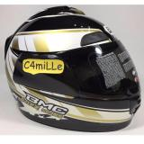 Spesifikasi Helm Bmc Jazz 14 Black Gold White Full Face Lengkap