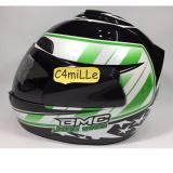 Jual Helm Bmc Jazz 14 Black White Green Full Face Bmc Grosir