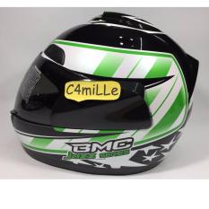 Spesifikasi Helm Bmc Jazz 14 Black White Green Full Face