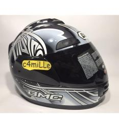Harga Helm Bmc Jazz Motif 15 Graphite Met Full Face New