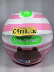 Harga Helm Bmc Milan Line Brown White Pink Termurah
