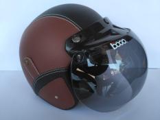 Helm bogo dewasa (coklat hitam)