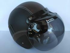 Helm bogo dewasa hitam-coklat
