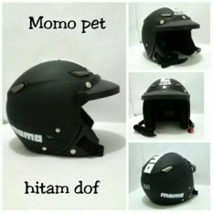 Helm Bogo Momo Jpn Hitam Doff & Pet
