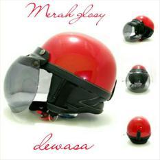 Helm Bogo Retro Chip Putih Glosy Kaca Bogo Ori / Helm Retro / Helm Chip / Helm Bogo Murah / Helm Chip Bogo