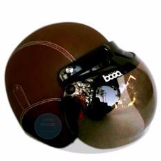 Helm Bogo Retro Classic Kaca BOGO Original Dewasa - Coklat Polos