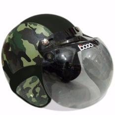 Spesifikasi Helm Bogo Retro Classic Kaca Bogo Original Dewasa Loreng Tentara Paling Bagus