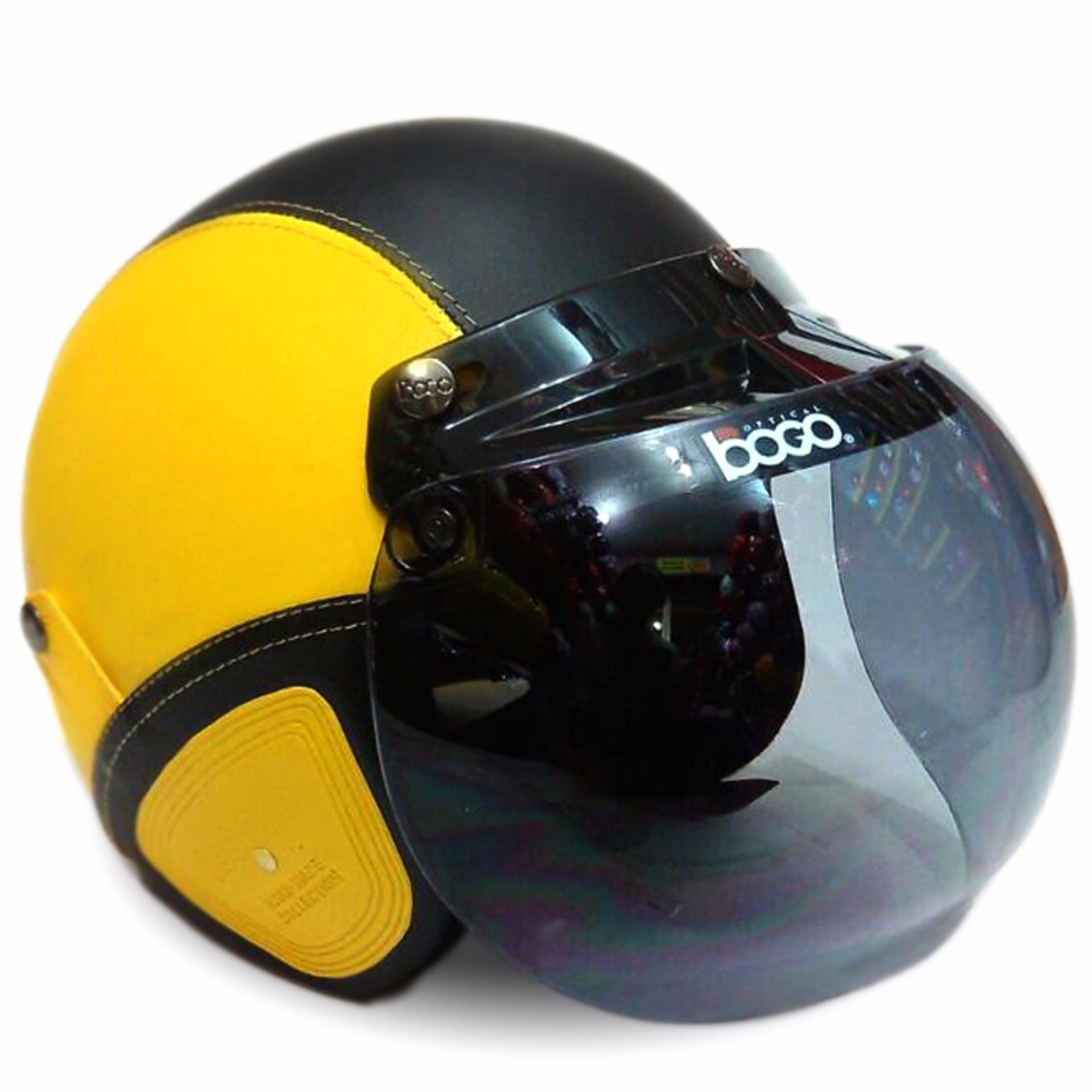 helm bogo retro full synthetic leather dewasa remaja kaca bogo original kuninghitam 6938 59567835 df0c26d8c546792281d58fda48fbc219