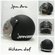 Helm Bogo Retro Klasik JPN ARC Hitam Doff Kaca Bogo GIX