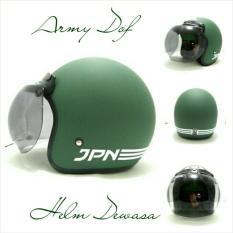 Jual Helm Bogo Retro Sni Jpn Arc Ijo Army Dof Multi