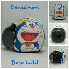 Beli Helm Bogo Retro Sni Kulit Dewasa Motif Doraemon Safari Lengkap