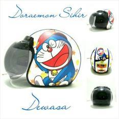 Jual Helm Bogo Retro Sni Kulit Dewasa Motif Doraemon Sihir Multi Ori