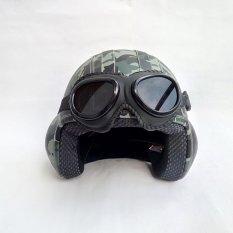 Beli Helm Broco Pilot Kacamata Retro Army Jawa Timur