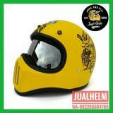 Spesifikasi Helm Cakil Hbc Racer Retro Dengan Inner Visor Chrome Yg Baik