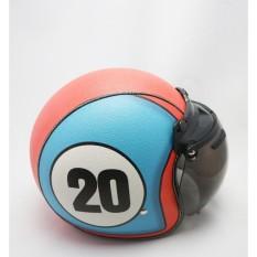 Helm Logo 20 Retro/klasik/bogo Kulit Kaca Bubble halfface SNI