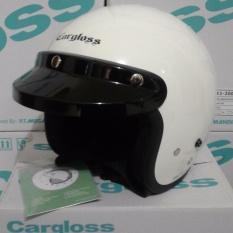 Helm Cargloss Retro PUTIH SOLID