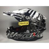 Harga Helm Cross Trail Gm Super Cross Neutron White Silver Merk Gm