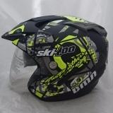 Spesifikasi Helm Dmn 2 Kaca Double Visor 2 Kaca Ski Doo B Doff Yellow Terbaru