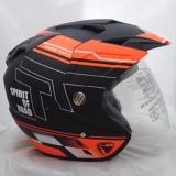 Jual Helm Dmn 2 Kaca R 9 Black Doff Orange Original