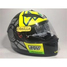 Helm Full Face AGV K3 Sv Winter Test 46 Black Double Visor + Pinlock .