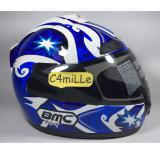 Harga Helm Full Face Bmc Jazz 12 Black Blue White Lengkap