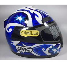 Spek Helm Full Face Bmc Jazz 12 Black Blue White Bmc