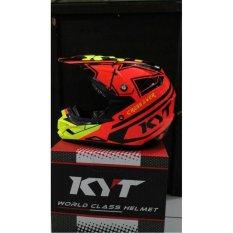 helm full face KYT Cross Over Super Fluo series