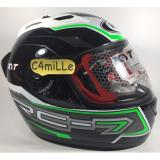 Obral Helm Full Face Kyt Rc7 Rc 7 14 Black White Green Fluo Murah