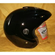 Helm GIX 207 Hitam glossy / Mirim INK CX22