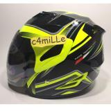 Cuci Gudang Helm Gm Fighter Se Huricane Yellow Fluo Black Half Face