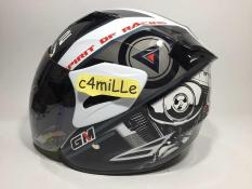HELM GM FIGHTER SPORT V2 SR WHITE SILVER HALF FACE