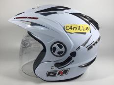 Helm GM New Imprezza Putih / White Double visor