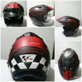 Harga Helm Half Face Double Visor Helm Racing Seken