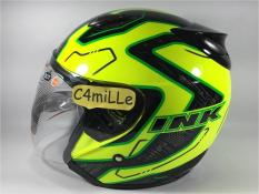 HELM INK CENTRO JET SUPER FLUO #01 YELLOW FLUO BLACK GREEN FLUO HALF F