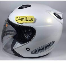 HELM INK CENTRO SOLID WHITE HALF FACE ORIGINAL