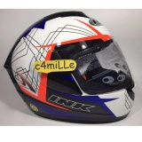 Spesifikasi Helm Ink Cl Max Motif 3 White Royal Blue Red Fluo Full Face Size L Baru