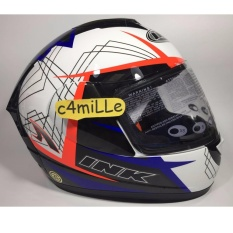 Beli Helm Ink Cl Max Motif 3 White Royal Blue Red Fluo Full Face Size L Online Terpercaya