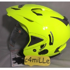 Helm INK T Max Double Visor Yellow Fluo