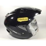 Jual Helm Ink T Max Tmax Double Visor Black Hitam Half Face Murah