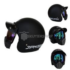Toko Helm Jpn Arc With Neo Goggle Mask Retro Klasik Jap Style Motocross Shark Raw Visor Rainbow Black Doff Include Pet Hitam Jpn Di Jawa Timur