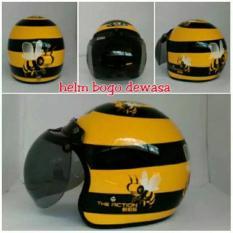 Helm Jpn Bee Kuning Hitam+Kaca Bogo Bisa Request Warna