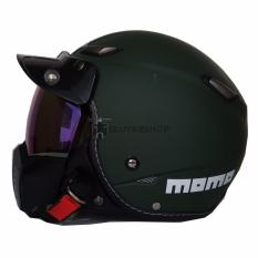 Beli Helm Jpn Momo With Neo Goggle Mask Retro Klasik Jap Style Motocross Shark Raw Visor Rainbow Hijau Army Doff Include Pet Hijau Army Murah
