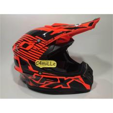 HELM JPX CROSS X12 RED FLUO GLOSS BLACK TRAIL SUPER CROSS