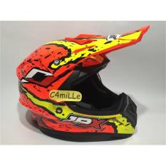 HELM JPX CROSS X2 FLAG RED FLUO TRAIL SUPER CROSS