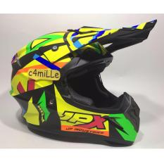 HELM JPX CROSS X4 ROSSI FLUORESCENT BLACK DOP TRAIL SUPER CROSS