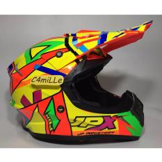 HELM JPX CROSS X4 ROSSI FLUORESCENT RED GLOSS TRAIL SUPER CROSS
