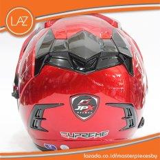 Helm JPX Supreme Original Merah Metalik - [Maroon] Kualitas Setara INK,KYT,BMC,WTO,MSR