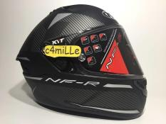 HELM KYT CASCO NF-R LOGOS MATT GREY DOUBLE VISOR FULL FACE NFR SPECIAL